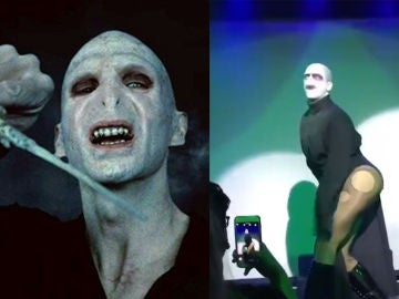 Lady Voldemort en plena actuación