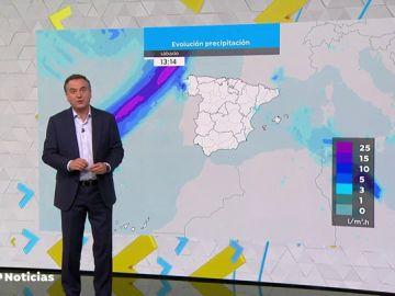 El paso de un frente atlántico dejará lluvias al inicio del puente del Pilar y subida de las temperaturas el fin de semana