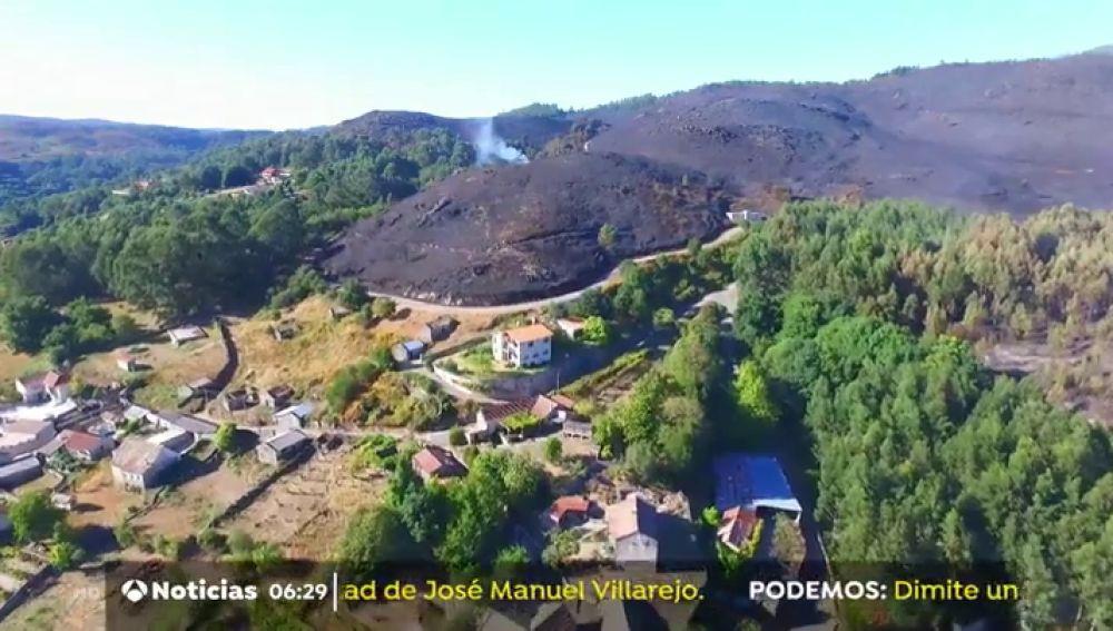 Incendio en Mondariz