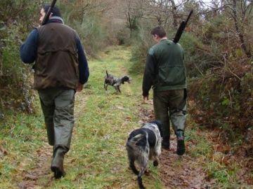 Imagen de archivo de dos cazadores.