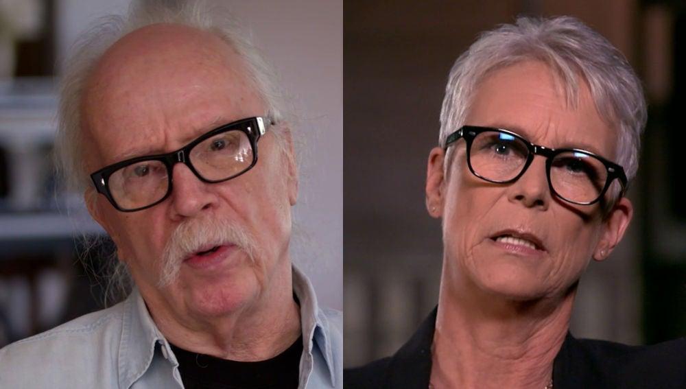 John Carpenter y Jamie Lee Curtis hablando sobre 'La noche de Halloween'