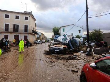 Así han quedado las calles de Sant Llorenç tras las inundaciones en Mallorca