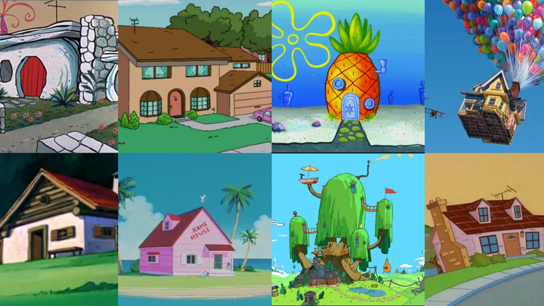 Casas de dibujos animados