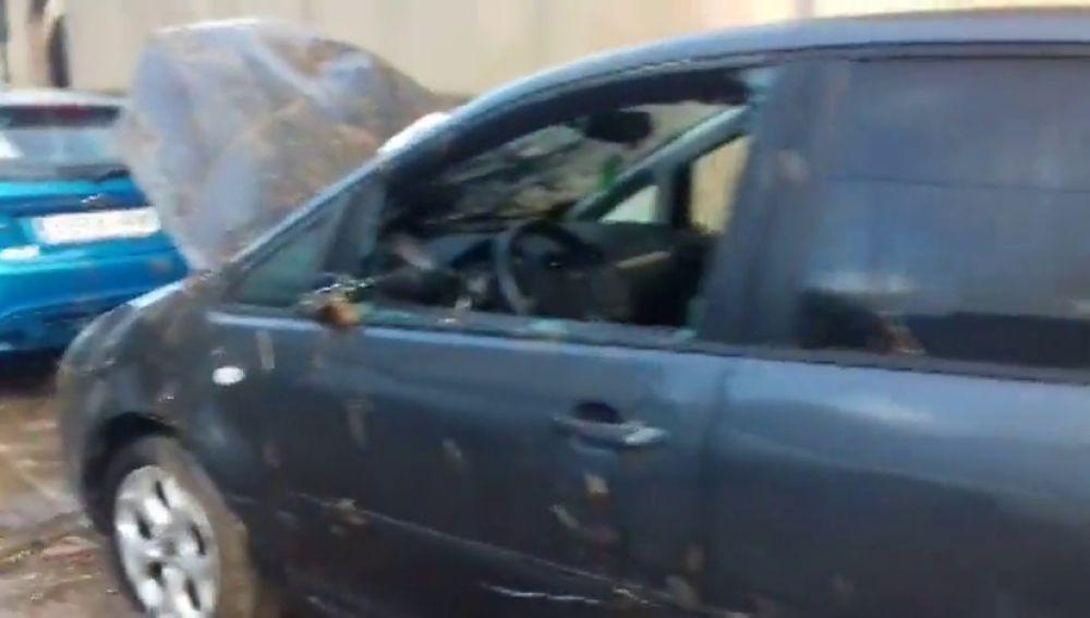 Coches destrozados en las calles de Sant Llorenç (Mallorca) tras las lluvias torrenciales de las últimas horas