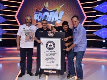 """'Los Lobos' consiguen un Récord Guinness Mundial en '¡Boom!': """"Me dan ganas de ponerme a aullar"""""""