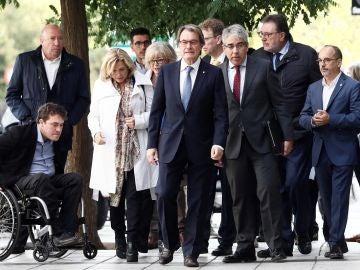 Artur Mas, a su llegada al Tribunal de Cuentas