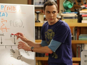 Jim Parsons interpretando a Sheldon Cooper