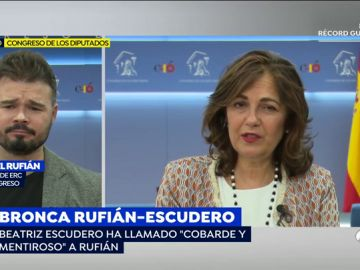 "Gabriel Rufián, sobre su rifirrafe con Beatriz Escudero: ""No le guiñé un ojo, ella o interpretó así"""