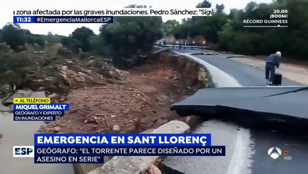 """Experto en inundaciones: """"El cauce que se formó en Mallorca equivale al del Ebro a 5 metros por segundo"""""""