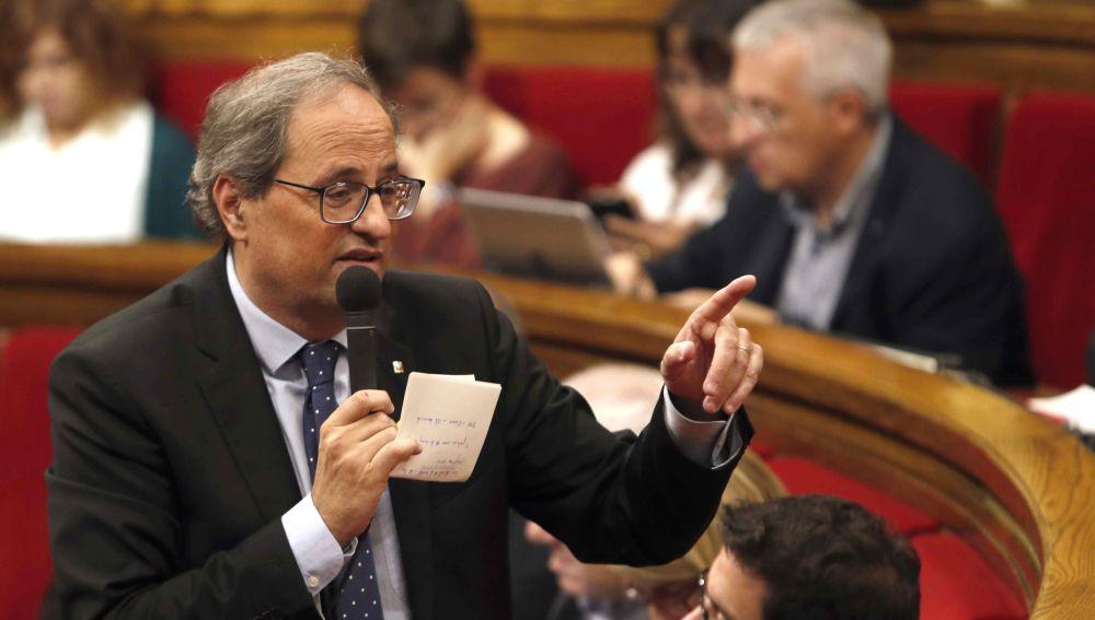 Quim Torra en el Parlament