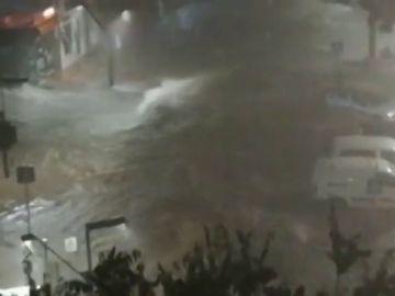 Málaga en alerta roja por fuertes lluvias