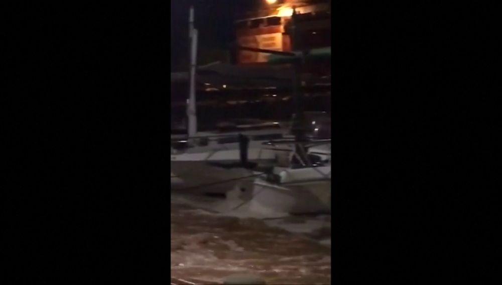Así anegaron las lluvias torrenciales la localidad mallorquina de Sant Llorenç