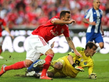 Partido benfica vs oporto de la liga portuguesa