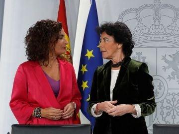 María Jesús Montero e Isabel Celaá