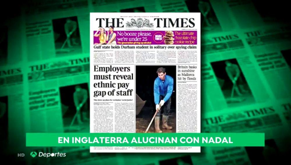Las imágenes de Rafa Nadal ayudando en Sant Llorenç dan la vuelta al mundo: así lo recogen los medios internacionales