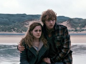Hermione y Ron Weasley en 'Harry Potter'