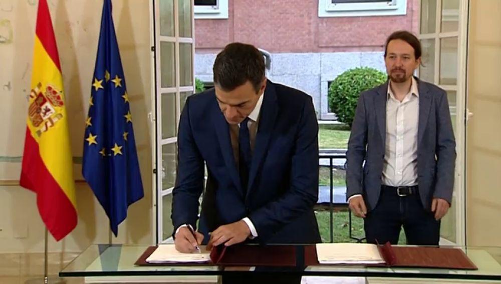 Pedro Sánchez y Pablo Iglesias se reúnen en Moncloa para ultimar el acuerdo presupuestario