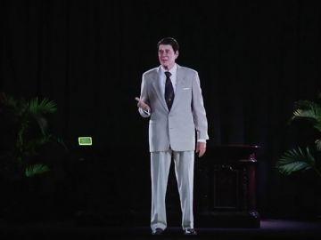 Un holograma resucita a Ronald Reagan