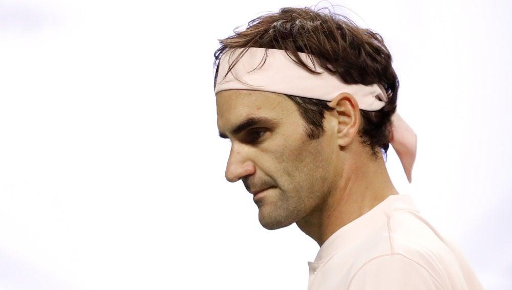 Roger Federer, durante un partido