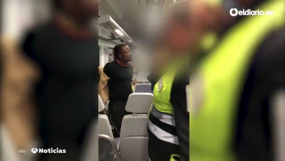 Enfrentamiento guardias seguridad tren