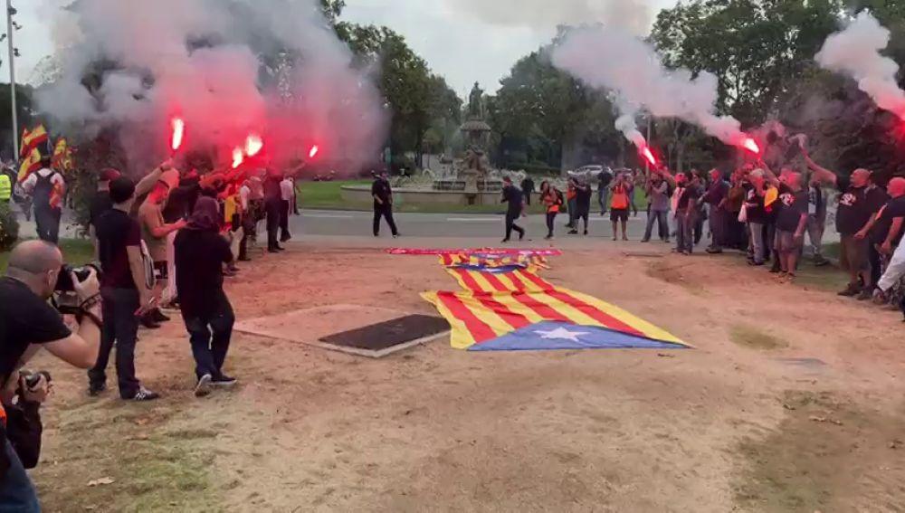 Manifestación de la Falange en Barcelona