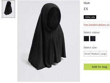 Los hijabs a la venta en la página web