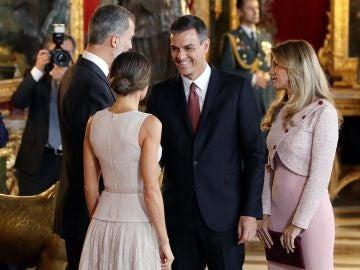Pedro Sánchez, en el Palacio Real