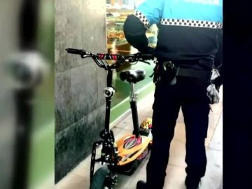 Patinete eléctrico multado en Valladolid