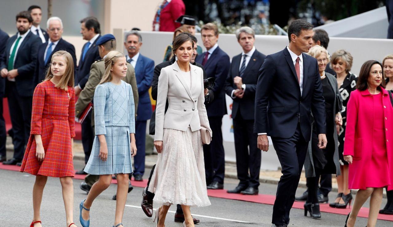 Pedro Sánchez en el desfile de la Fiesta Nacional