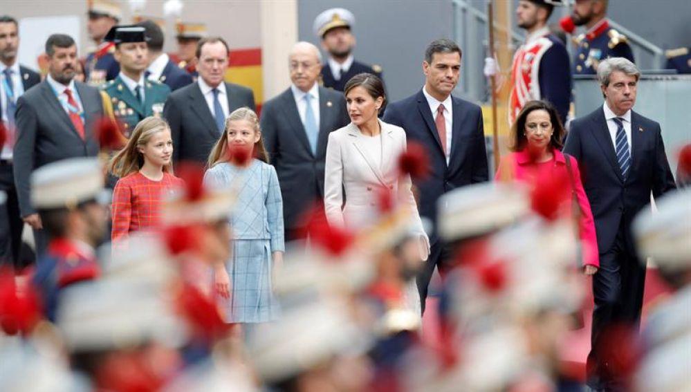 Pedro Sánchez, en el desfile del 12 de octubre