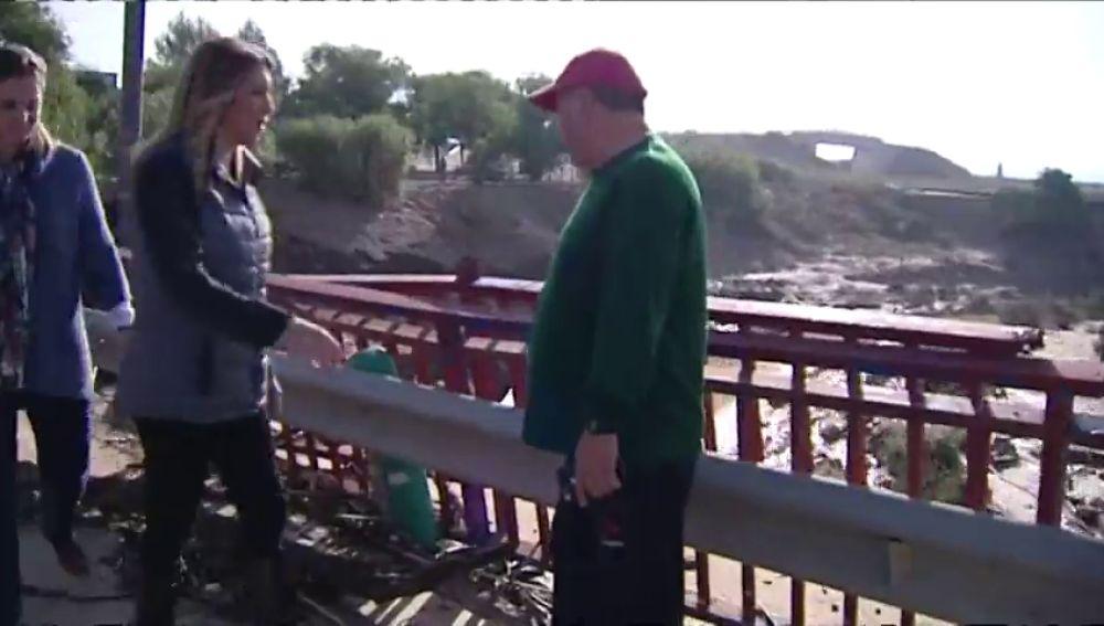 Susana Díaz visita alguna de las zonas más afectadas por la gota fría en Málaga