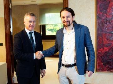 Iñigo Urkullu y Pablo Iglesias