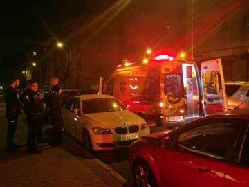 Imagen de una ambulancia en Moratalaz