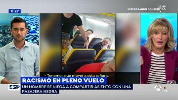 """El enfado de Susanna Griso con un pasajero que se negó a sentarse con una mujer negra: """"Es un racista de mierda"""""""