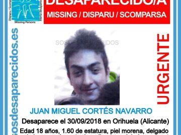 Desaparecido en Orihuela
