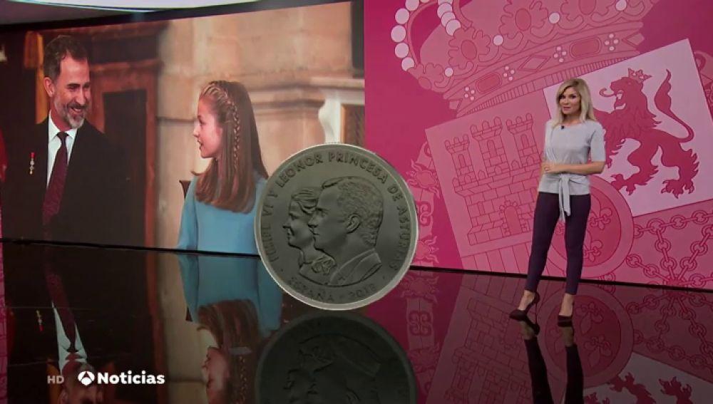 ¿Se parece la Princesa Leonor a la moneda que lleva su imagen?