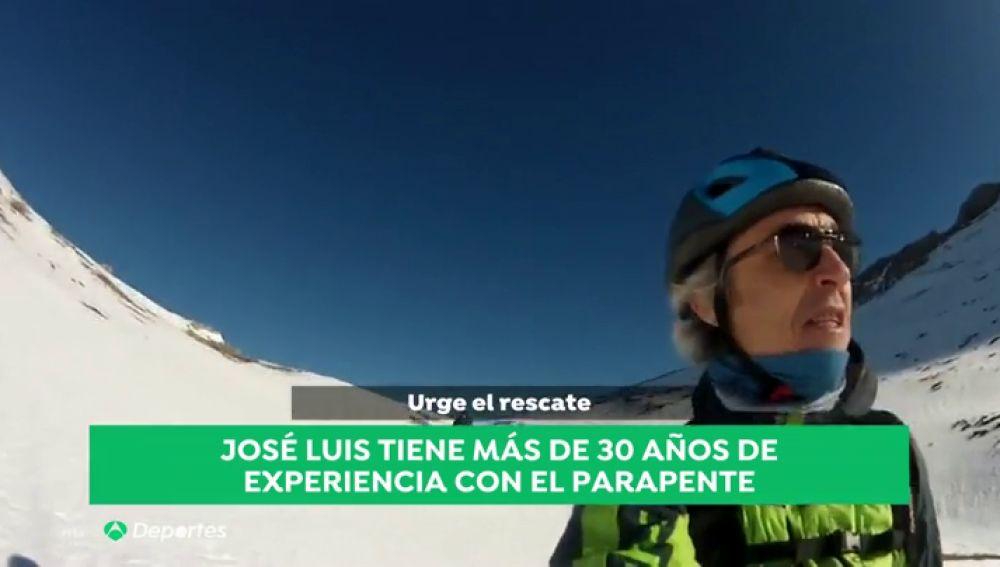 José Luis, un experto del parapente: lleva más de 30 años volando, una experiencia que puede ser clave para sobrevivir