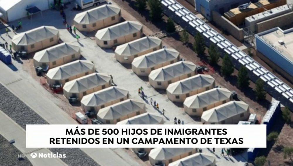 Más de 500 hijos de inmigrantes retenidos en un campamento de Texas