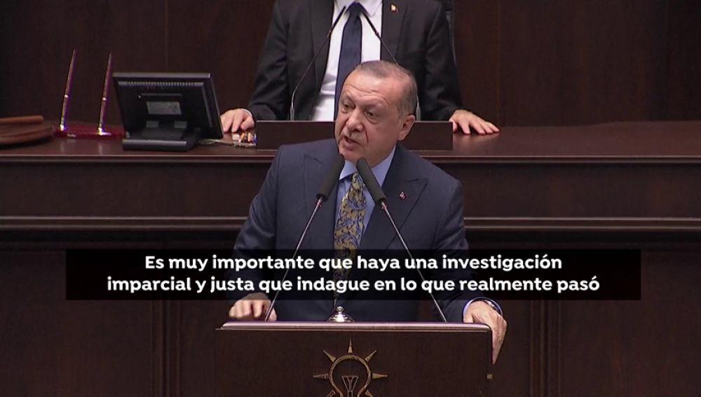 """Erdogan: """"Tenemos la certeza de que Khashoggi fue asesinado en el consulado saudí"""""""