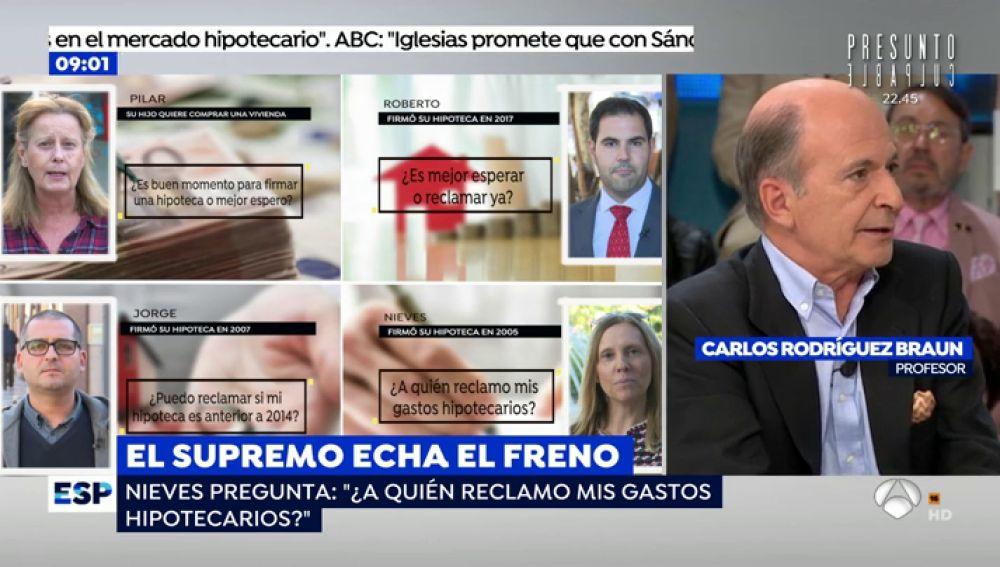 Carlos Rodríguez, catedrático de Economía, detalla la medidas que tenemos que adoptar con la hipoteca