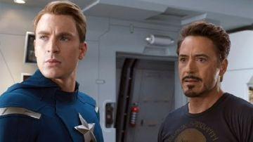Iron Man y Capitán América en Marvel