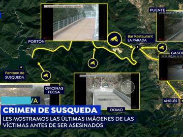 VÍDEO: Las pruebas que sitúan al asesino de Marc y Paula en el pantano de Susqueda el día del crimen