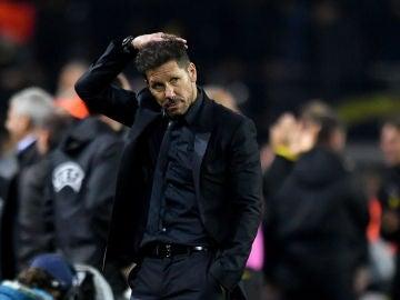 Simeone, en el partido ante el Borussia Dortmund