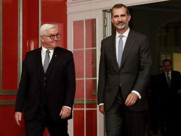 Felipe VI y el presidente de la República Federal de Alemania, Frank-Walter Steinmeier