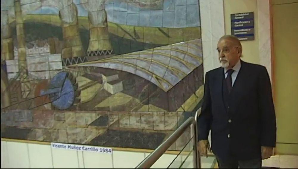 Endesa homenajea al muralista de la central de As Pontes
