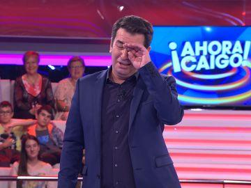 Arturo Valls emocionado por las palabras de un concursante
