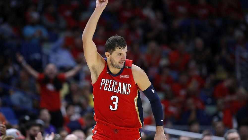 Nikola Mirotic, en un partido con los Pelicans