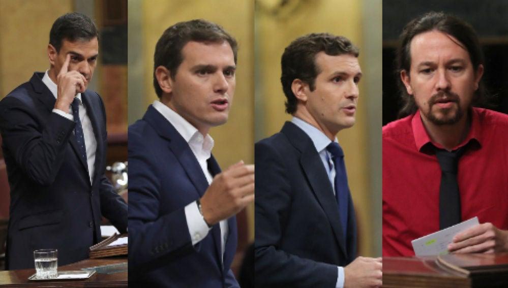 Pedro Sánchez, Albert Rivera, Pablo Casado y Pablo Iglesias