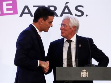 El actor estadounidense Richard Gere junto a Pedro Sánchez