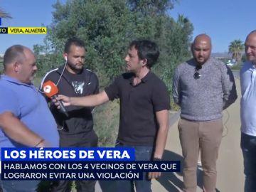 """Los cuatro héroes de Vera que impidieron una violación en plena calle: """"Actuamos sin dudar y evitamos una tragedia"""""""